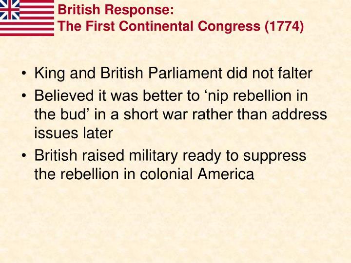 British Response: