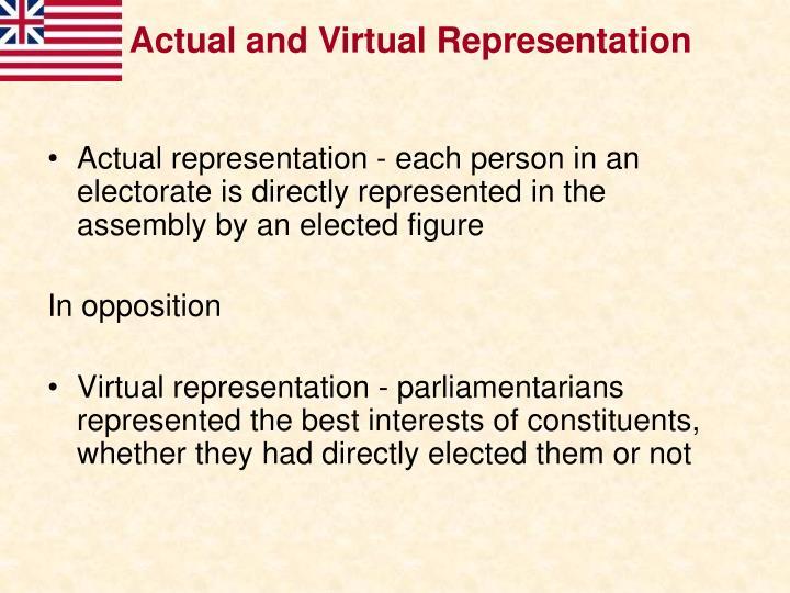 Actual and Virtual Representation