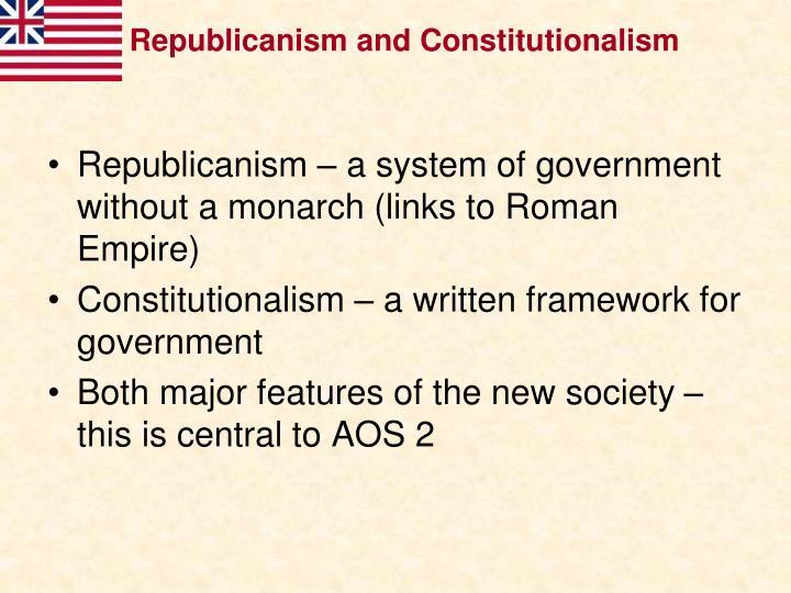 Republicanism and Constitutionalism