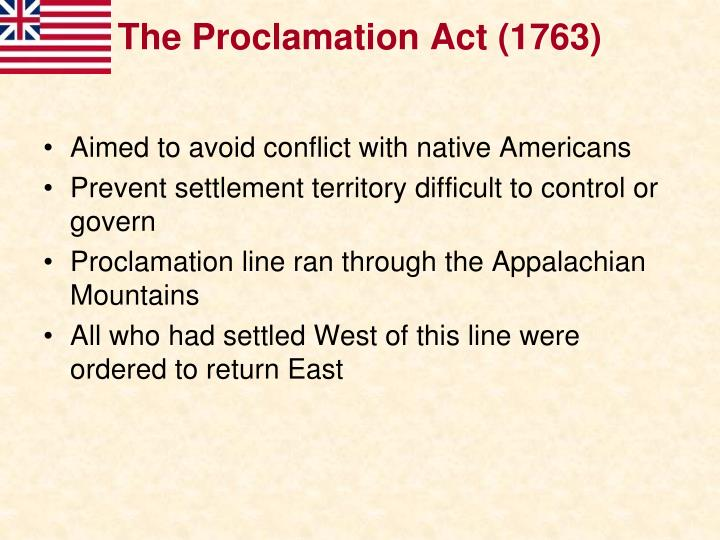 The Proclamation Act (1763)