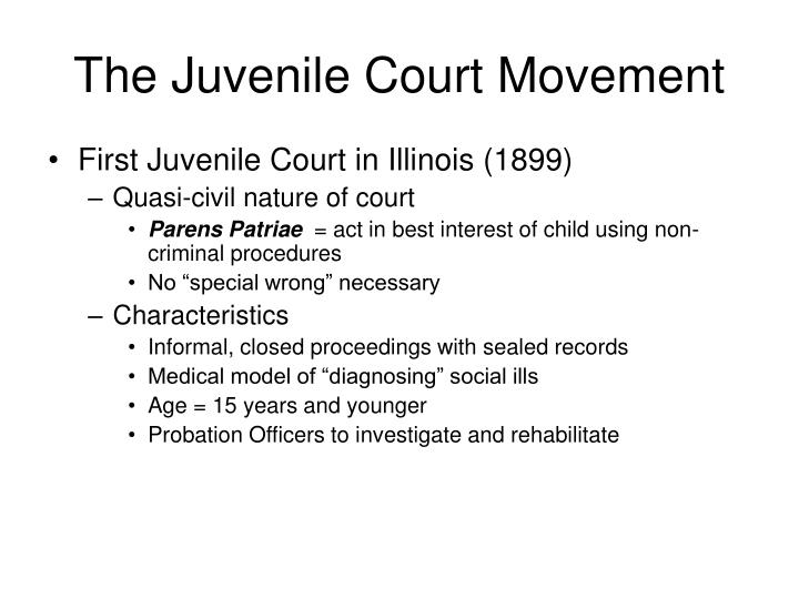 history of the juvenile justice system For several centuries, youth offenders were treated in a highly punitive manner, as they were managed concurrently with adult offenders, with little consideration given to their cognitive, emotional, or developmental immaturity the first juvenile justice system was created in 1899, and it was a.