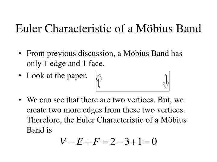 Euler Characteristic of a M