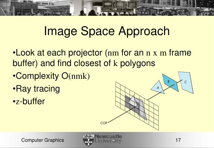 Image Space Approach