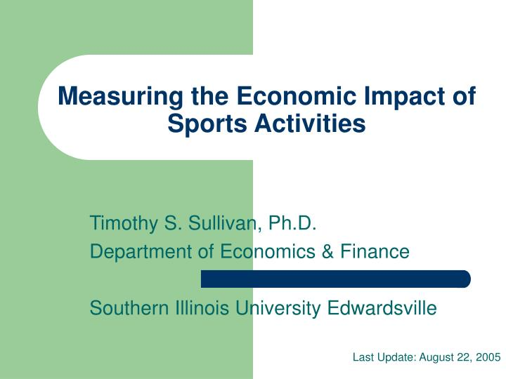 measuring the economic impact of sports activities n.