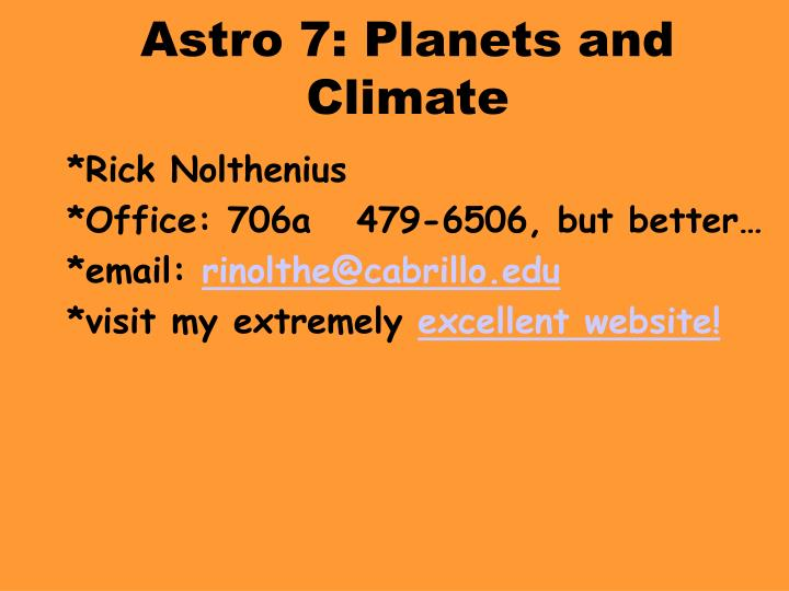Astro 7 planets and climate