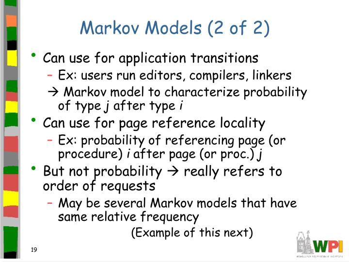 Markov Models (2 of 2)