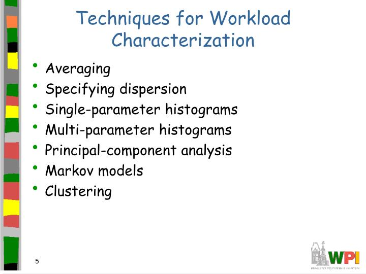 Techniques for Workload Characterization