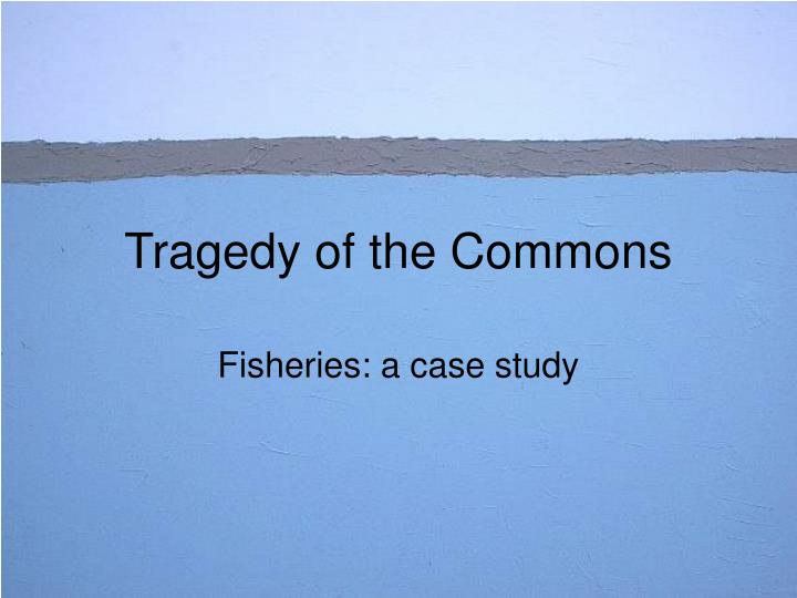 tragedy of the commons n.