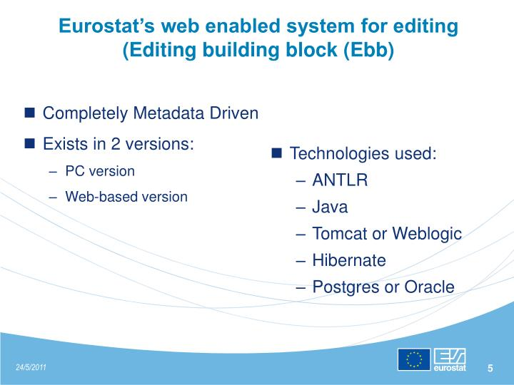 Eurostat's web enabled system for editing