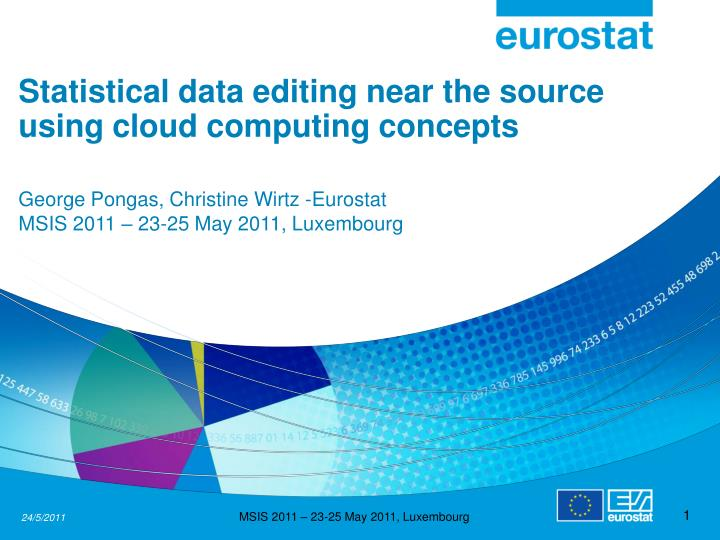 Statistical data editing near the source using cloud computing concepts
