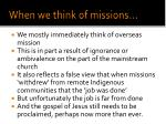 when we think of missions