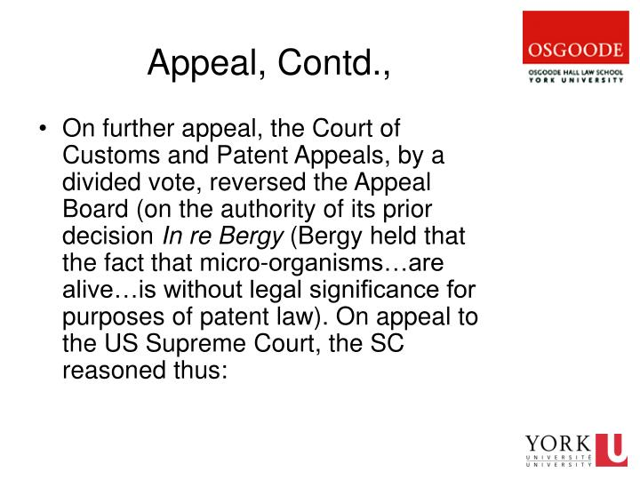 Appeal, Contd.,