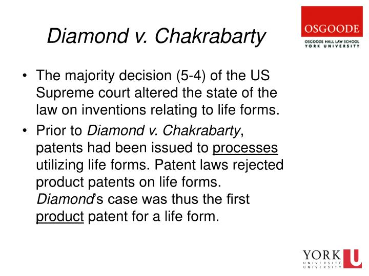 Diamond v. Chakrabarty