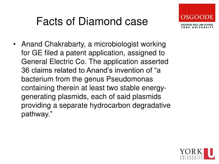Facts of Diamond case