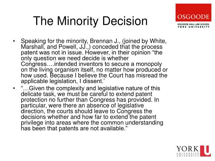 The Minority Decision