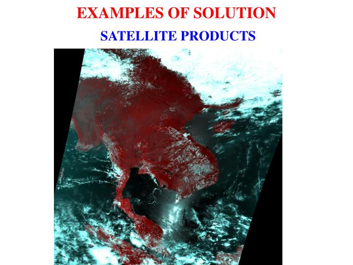 EXAMPLES OF SOLUTION