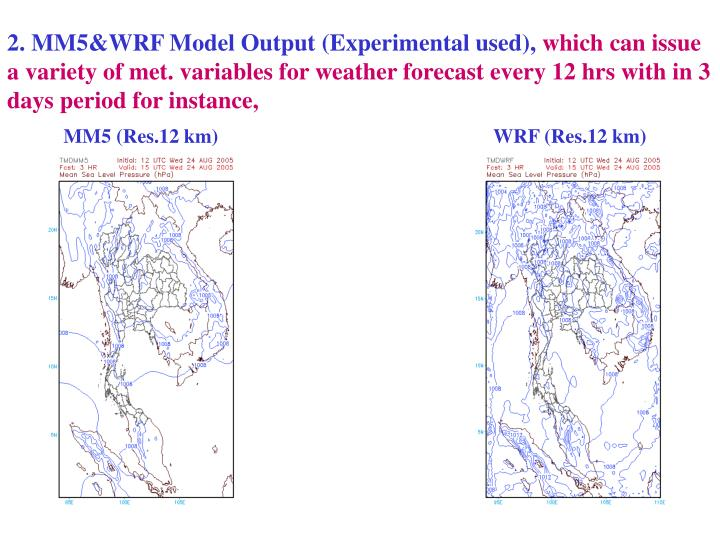 2. MM5&WRF Model Output (Experimental used),