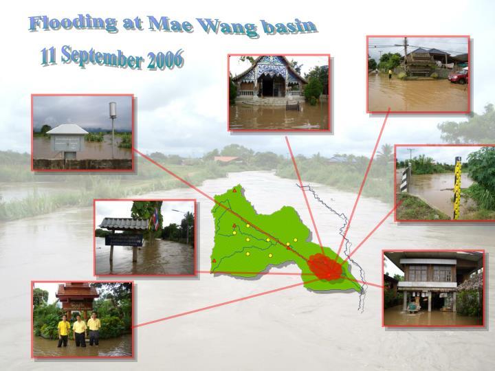 Flooding at Mae Wang basin