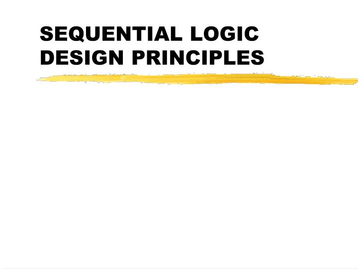 sequential logic design principles n.