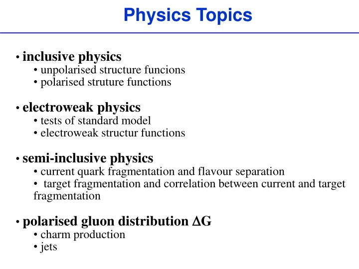 Topic For Ppt In Physics idea gallery