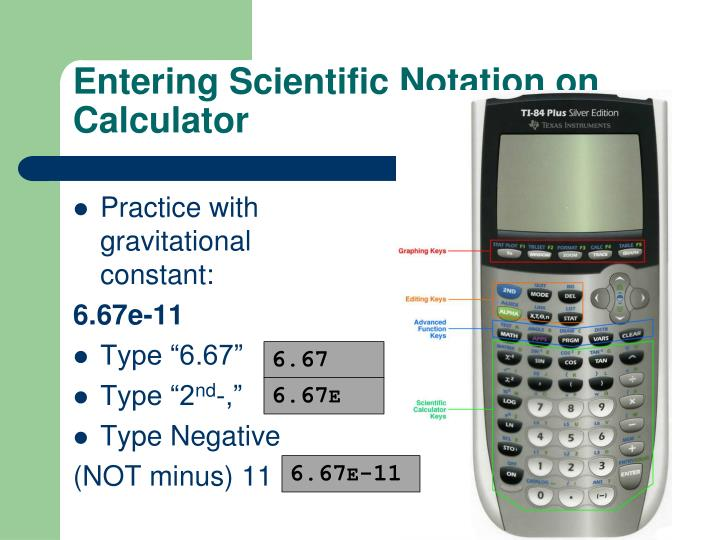 Entering Scientific Notation on Calculator