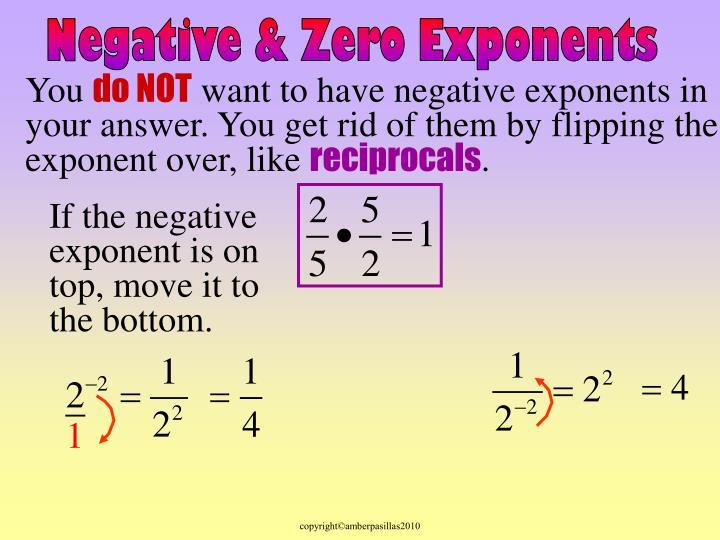 Negative & Zero Exponents