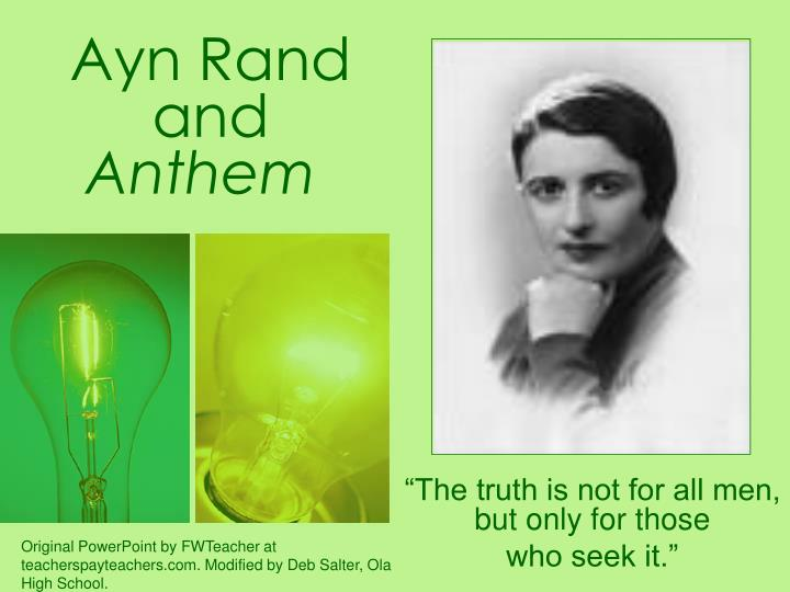 Ayn rand and anthem