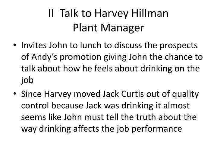II  Talk to Harvey Hillman