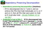 dependency preserving decomposition