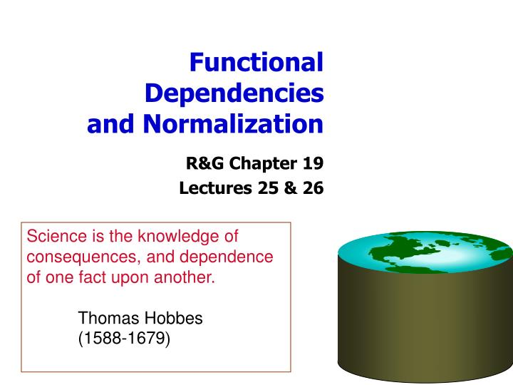 functional dependencies and normalization n.