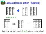 lossless decomposition example1