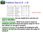 problems due to r w