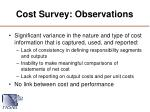 cost survey observations