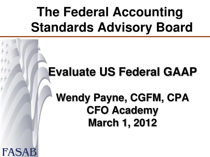 the federal accounting standards advisory board n.