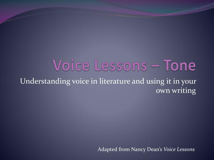 voice lessons tone n.