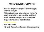 response papers4