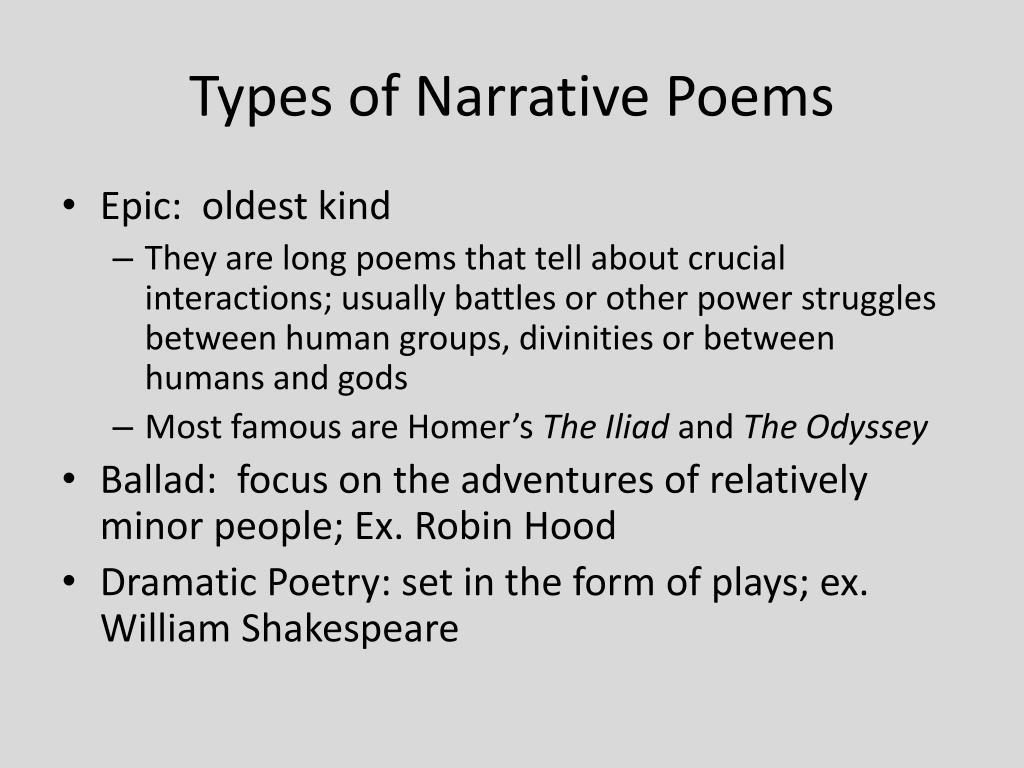 Ppt Narrative Poem Powerpoint Presentation Free Download