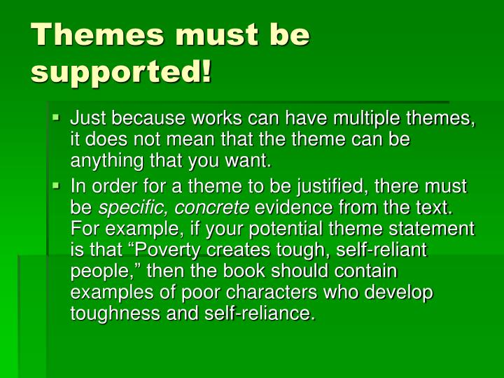 Themes must be supported!