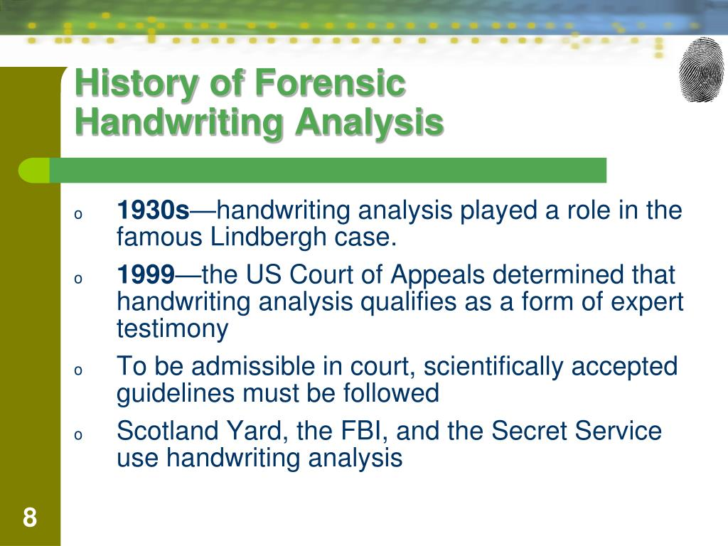 Ppt Describe 12 Types Of Handwriting Characteristics That