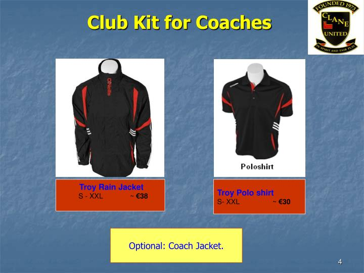 Club Kit for Coaches