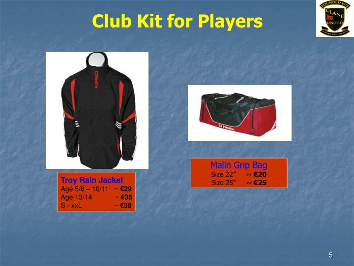 Club Kit for Players