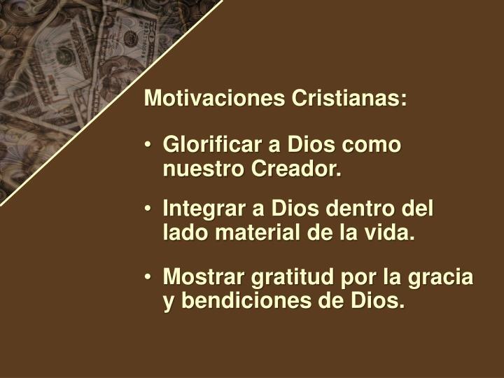 Motivaciones Cristianas: