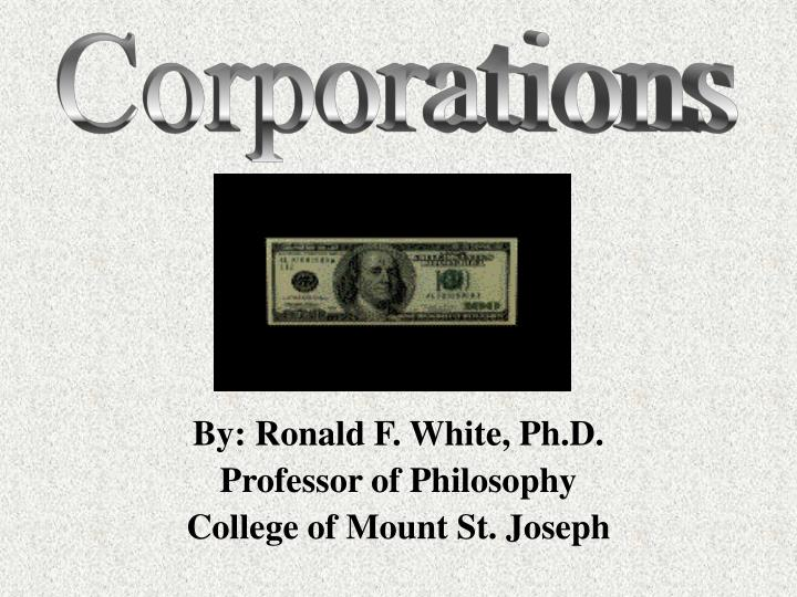 by ronald f white ph d professor of philosophy college of mount st joseph