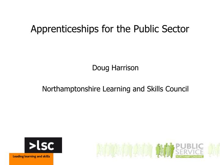apprenticeships for the public sector n.