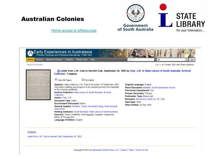 Australian Colonies