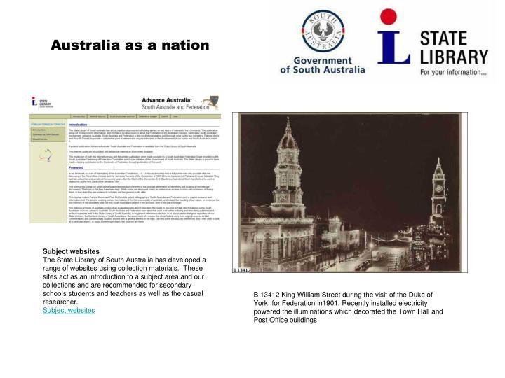 Australia as a nation