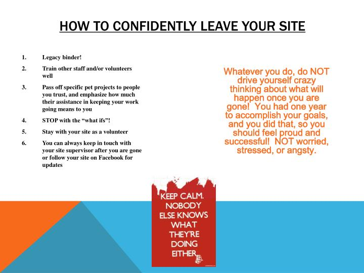how to confidently leave your site