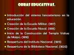 obras educativas
