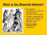 what is the manorial system