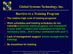 barriers to a training program